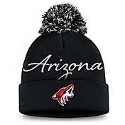 NHL Women's Arizona Coyotes Exclusive Black Pom Knit Beanie