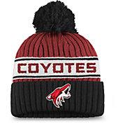 NHL Women's Arizona Coyotes Authentic Pro Maroon Pom Knit Beanie