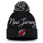 NHL Women's New Jersey Devils Exclusive Black Pom Knit Beanie