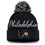 NHL Women's Philadelphia Flyers Exclusive Black Pom Knit Beanie