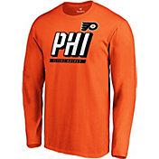 NHL Men's Philadelphia Flyers Tricode Logo Orange Long Sleeve Shirt