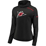 NHL Men's Carolina Hurricanes Authentic Pro Black Pullover Hoodie