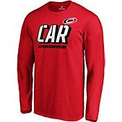 NHL Men's Carolina Hurricanes Tricode Logo Red Long Sleeve Shirt