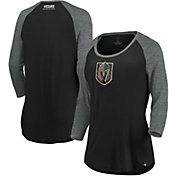 NHL Women's Vegas Golden Knights Shine Black Three-Quarter Sleeve Shirt
