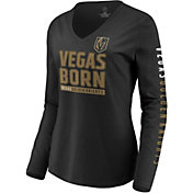 NHL Women's Vegas Golden Knights Slogan Black Long Sleeve Shirt