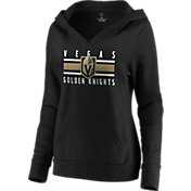 NHL Women's Vegas Golden Knights Stripe Black Pullover Hoodie