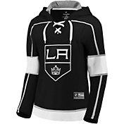 NHL Women's Los Angeles Kings Lace Up Black Pullover Hoodie