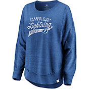NHL Women's Tampa Bay Lightning Amaze Royal Crew Sweatshirt