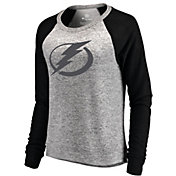 NHL Women's Tampa Bay Lightning Cozy Heather Grey/Black Long Sleeve Shirt