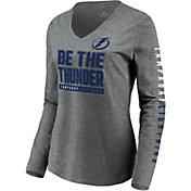 NHL Women's Tampa Bay Lightning Slogan Heather Grey Long Sleeve Shirt
