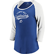 NHL Women's Tampa Bay Lightning Decide Royal 3/4 Sleeve Shirt