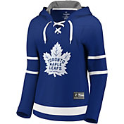 NHL Women's Toronto Maple Leafs Lace Up Blue Pullover Hoodie