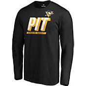 NHL Men's Pittsburgh Penguins Tricode Logo Black Long Sleeve Shirt
