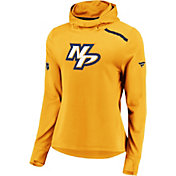 NHL Women's Nashville Predators Authentic Pro Rinkside Gold Pullover Hoodie