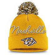 NHL Women's Nashville Predators Exclusive Yellow Pom Knit Beanie