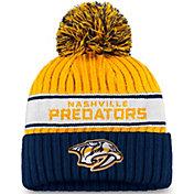 NHL Women's Nashville Predators Authentic Pro Yellow Pom Knit Beanie