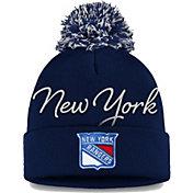 NHL Women's New York Rangers Exclusive Navy Pom Knit Beanie
