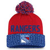 NHL Women's New York Rangers Royal Pom Knit Beanie