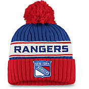 NHL Women's New York Rangers Authentic Pro Royal Pom Knit Beanie