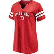 NHL Women's Detroit Red Wings Crash The Net Red V-Neck T-Shirt