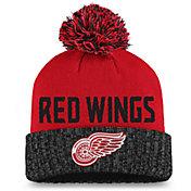 NHL Women's Detroit Red Wings Red Pom Knit Beanie