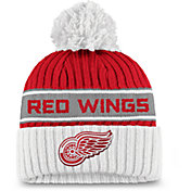 NHL Women's Detroit Red Wings Authentic Pro Red Pom Knit Beanie