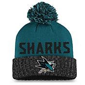 NHL Women's San Jose Sharks Black Pom Knit Beanie