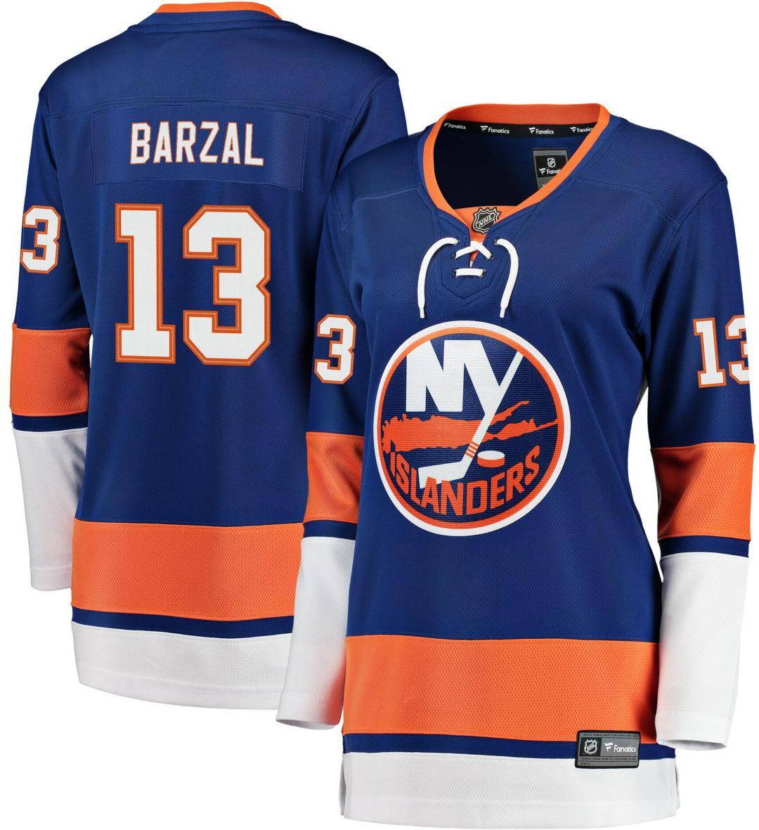 brand new 5c884 0711f NHL Women's New York Islanders Matthew Barzal #13 Breakaway Home Replica  Jersey