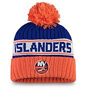 NHL Women's New York Islanders Authentic Pro Royal Pom Knit Beanie