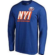 NHL Men's New York Islanders Tricode Logo Royal Long Sleeve Shirt