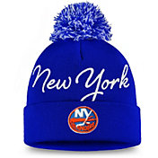 NHL Women's New York Islanders Exclusive Royal Pom Knit Beanie
