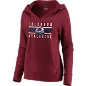 NHL Women's Colorado Avalanche Stripe Maroon Pullover Hoodie