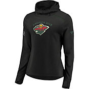 NHL Women's Minnesota Wild Authentic Pro Rinkside Black Pullover Hoodie