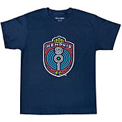 Icon Sports Group Youth Memphis 901 FC Logo Navy T-Shirt