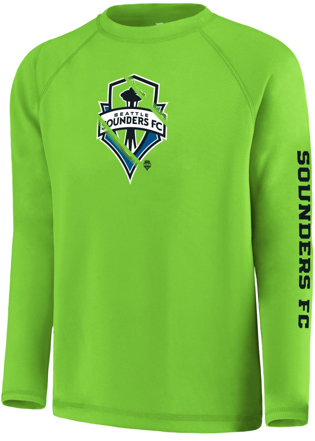best service e8c34 7510d MLS Youth Seattle Sounders Vital Green Long Sleeve Shirt