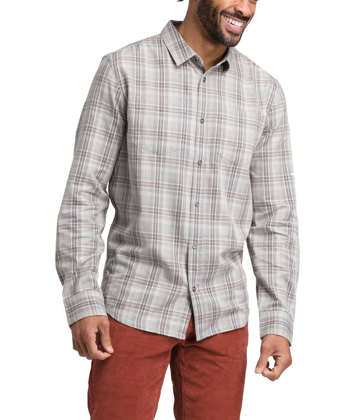 prAna Men's Holton Long Sleeve Button Down Shirt