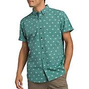 prAna Men's Broderick Slim Short Sleeve Button Up Shirt