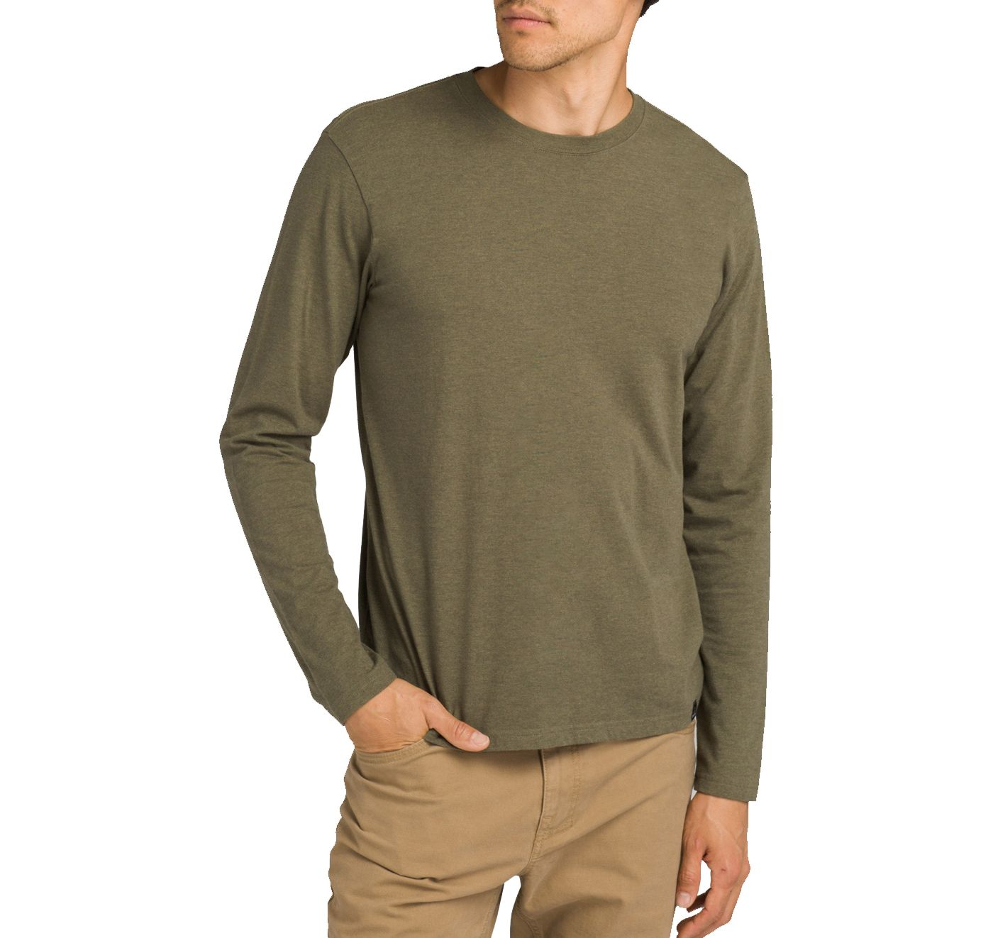 prAna Men's Long Sleeve Crew T-Shirt