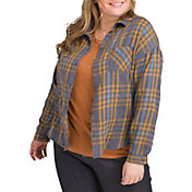 prAna Women's Plus Size Percy Button Down Long Sleeve Shirt