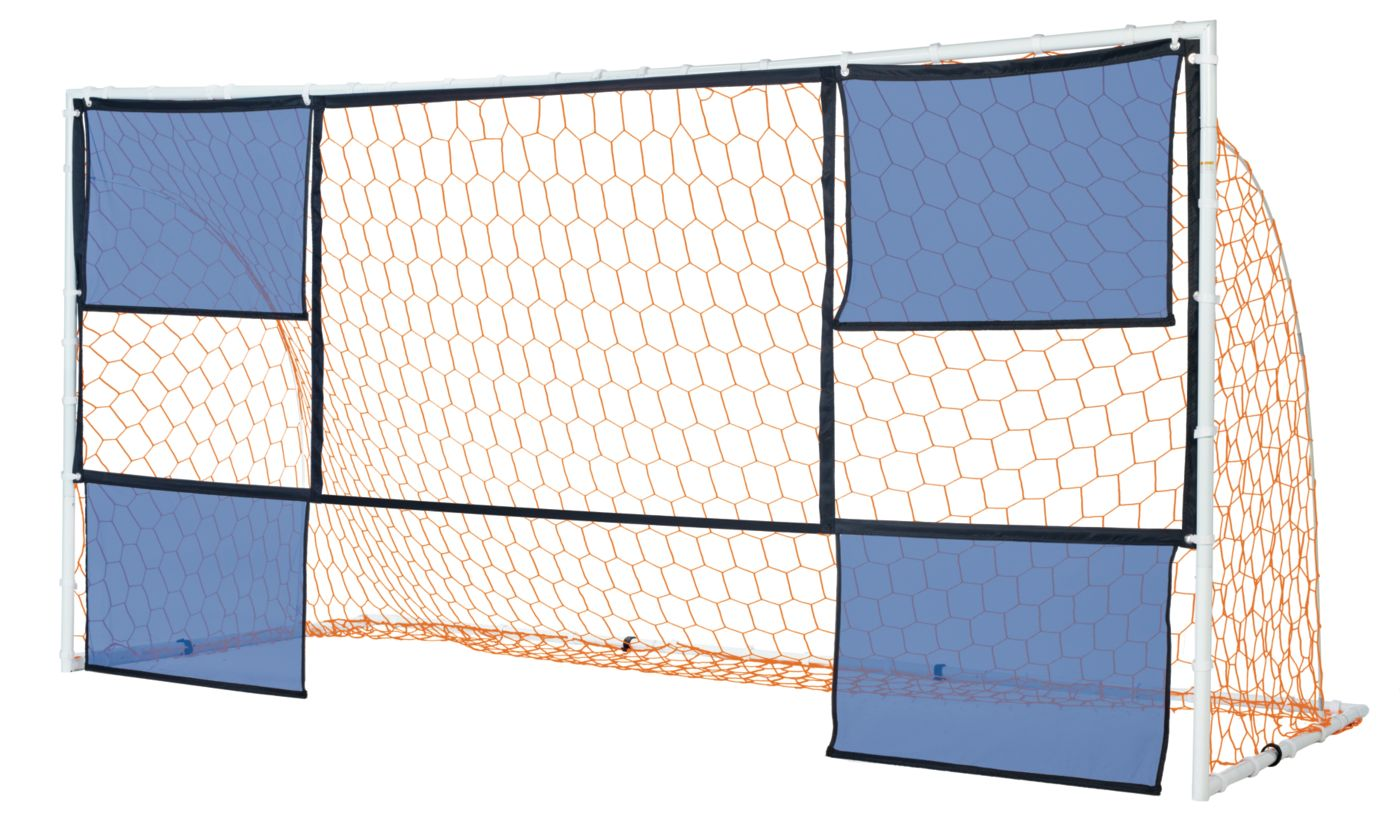 PowerBolt 12 x 6 Steel Soccer Goal With Targets