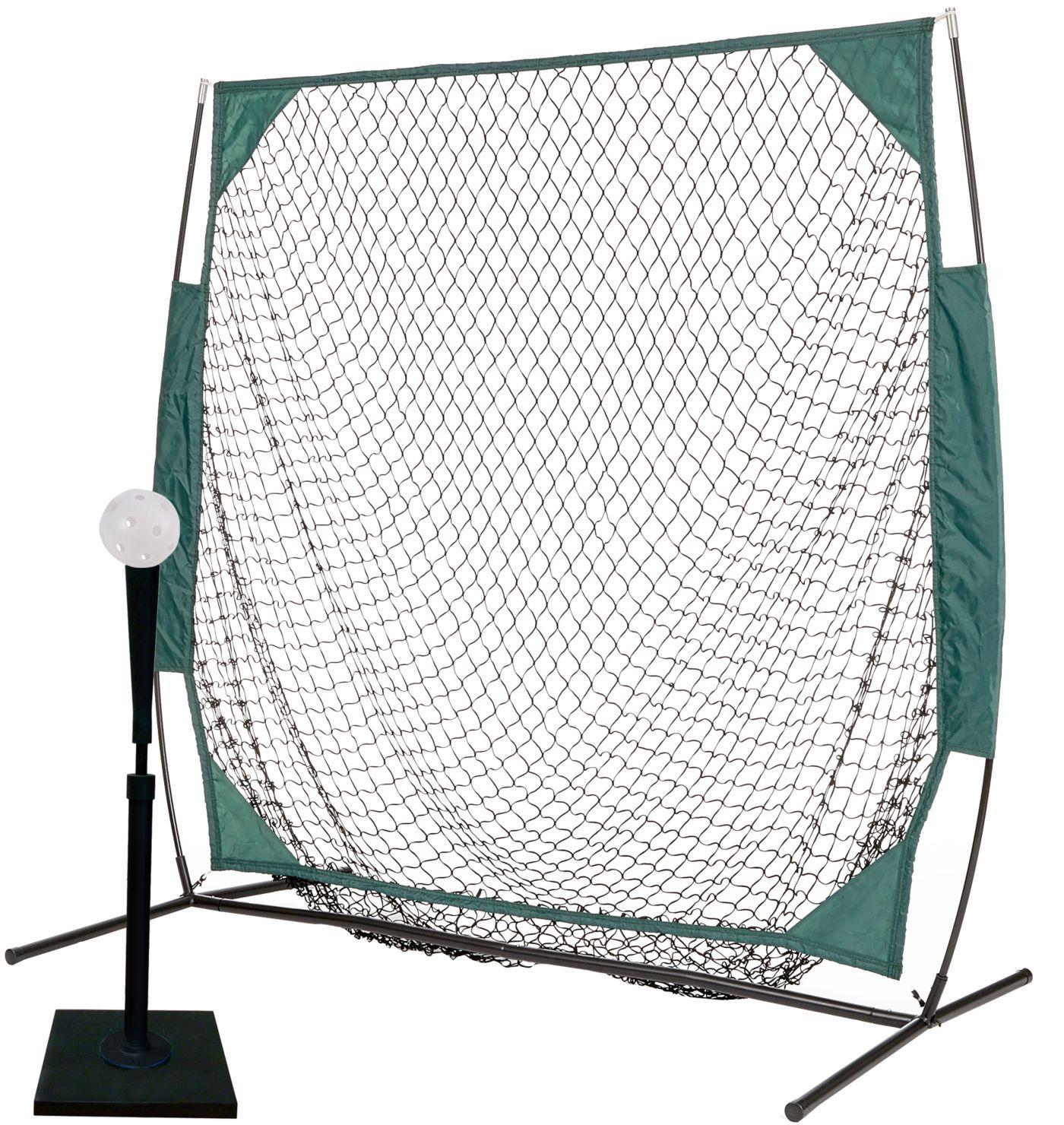 PowerBolt 5' Net w/ Pro Tee and 12 Pack Plastic Training Ball Set