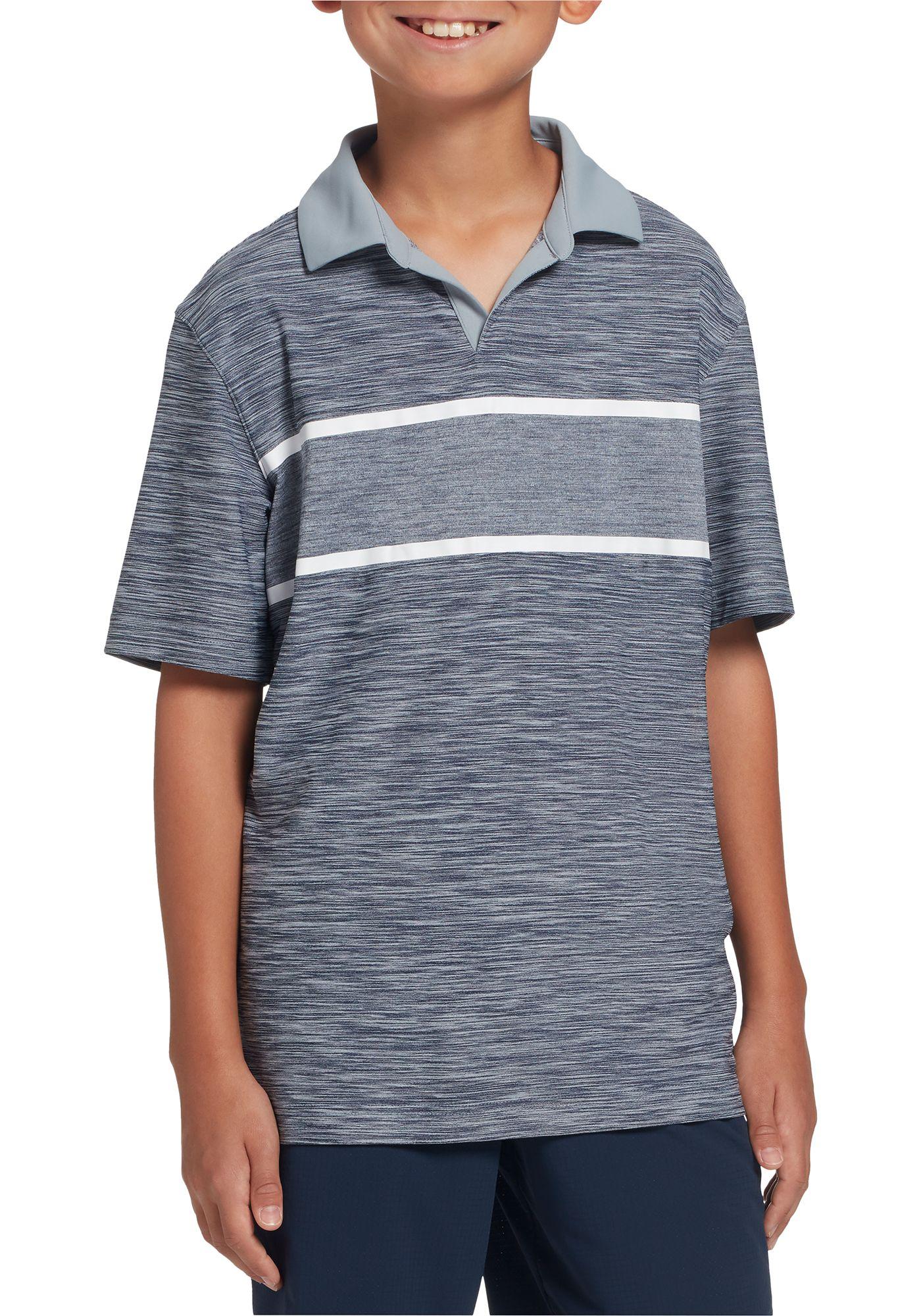 Prince Boys' Stripe Johnny Collar Tennis Polo