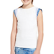 Prince Girls' Watercolor Short  Sleeve Tennis Shirt