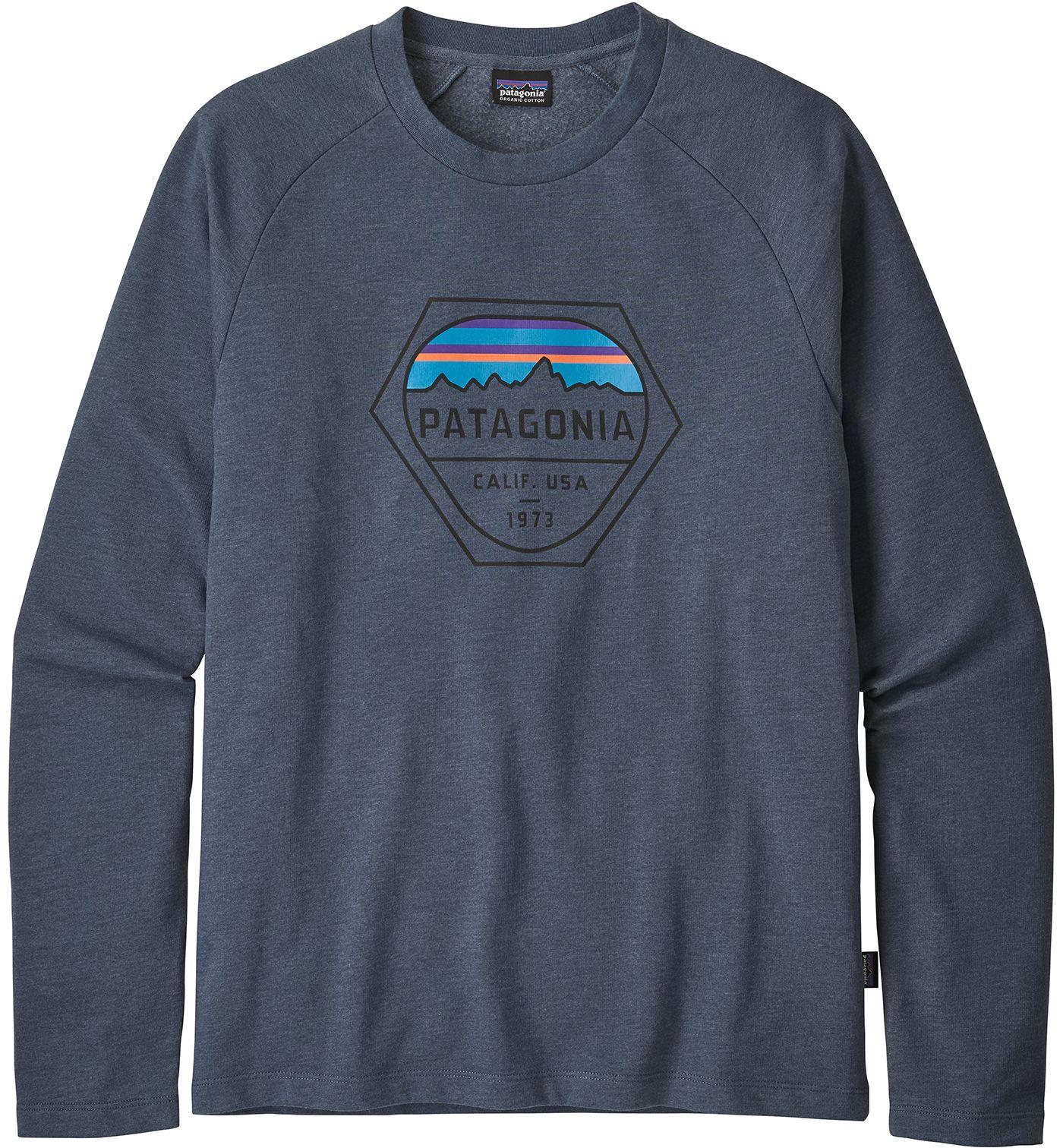 Patagonia Men's Fitz Roy Hex Lightweight Crew Sweatshirt