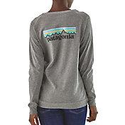 Patagonia Women's Pastel P-6 Logo Responsibili-Tee Long Sleeve Shirt