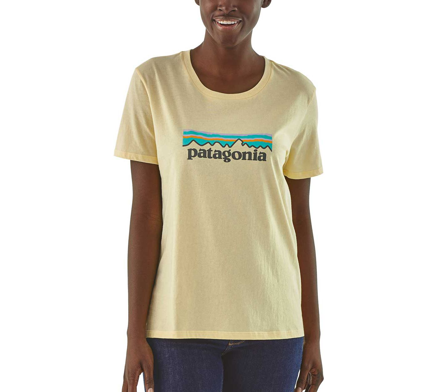 Patagonia Women's Pastel P-6 Logo Organic Crew T-Shirt