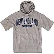 Chowdaheadz Men's New England Coach Heather Grey Short Sleeve Pullover Hoodie