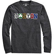 Chowdaheadz Men's Sports Boston Black Long Sleeve Shirt