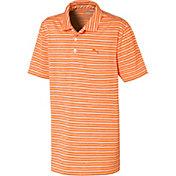 PUMA Boys' Short Sleeve Links Golf Polo