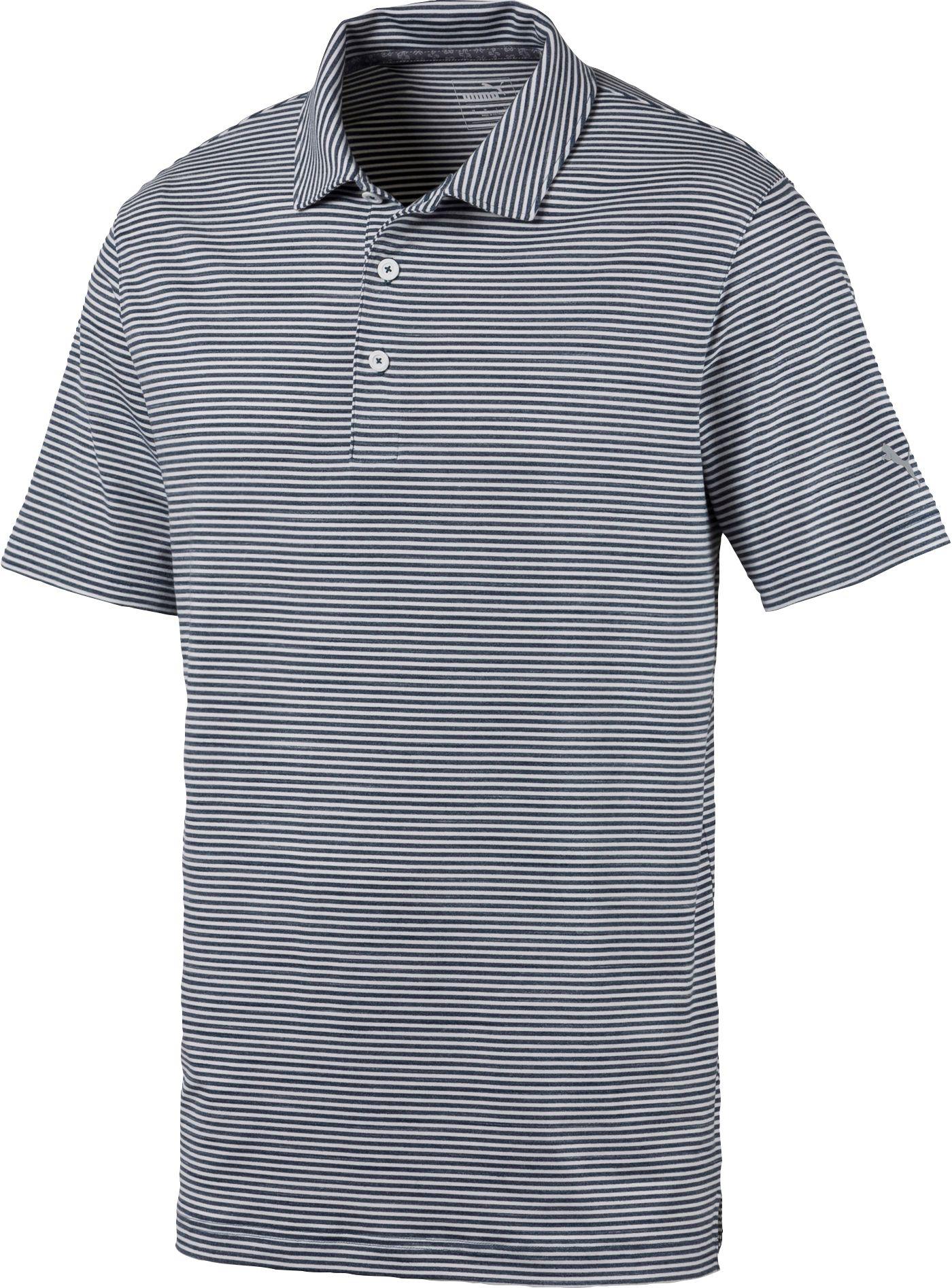 PUMA Men's Caddie Stripe Golf Polo